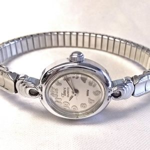 Vintage Timex Watch Expansion Band Oval